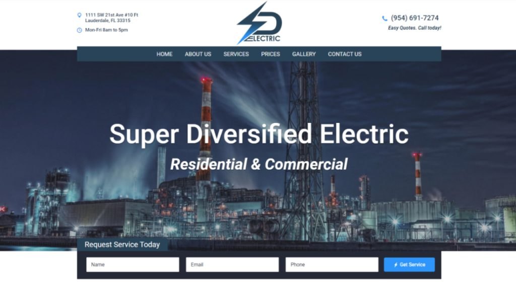 Super Diversified Electric | WordPress Web Design